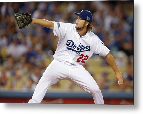 Playoffs Metal Print featuring the photograph Clayton Kershaw by Rob Leiter