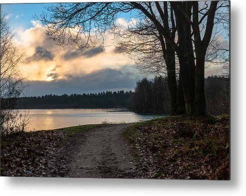 Scenics Metal Print featuring the photograph Cloudy Sunrise by William Mevissen