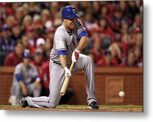 St. Louis Cardinals Metal Print featuring the photograph Colby Lewis by Jamie Squire