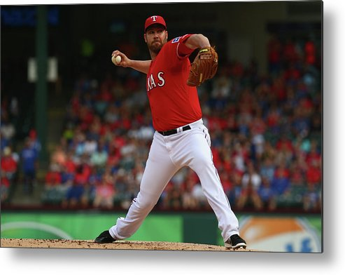 People Metal Print featuring the photograph Colby Lewis by Ronald Martinez
