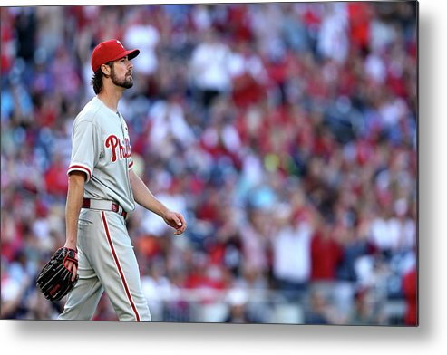 Three Quarter Length Metal Print featuring the photograph Cole Hamels by Patrick Smith