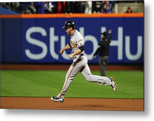 Playoffs Metal Print featuring the photograph Conor Gillaspie by Al Bello