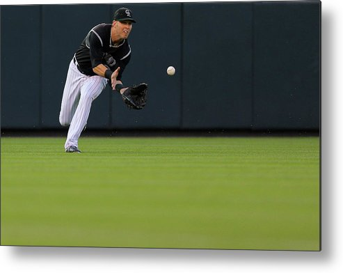 Catching Metal Print featuring the photograph Corey Dickerson by Justin Edmonds