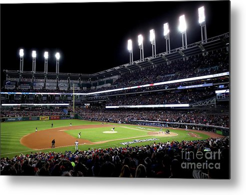 People Metal Print featuring the photograph Corey Kluber by Ezra Shaw