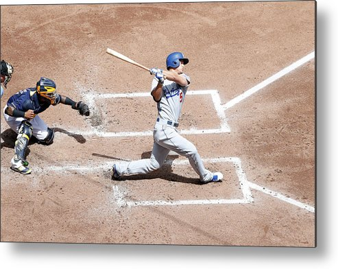 People Metal Print featuring the photograph Corey Seager by Joe Robbins