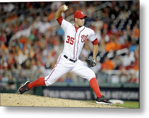 American League Baseball Metal Print featuring the photograph Craig Stammen by Greg Fiume