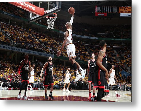 Playoffs Metal Print featuring the photograph Dahntay Jones by Nathaniel S. Butler