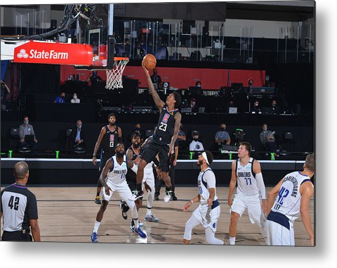 Playoffs Metal Print featuring the photograph Dallas Mavericks v LA Clippers - Game One by David Sherman