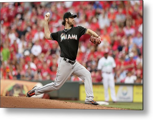 Great American Ball Park Metal Print featuring the photograph Dan Haren by Andy Lyons
