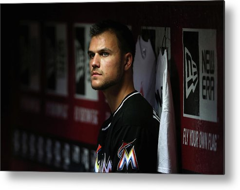 Relief Pitcher Metal Print featuring the photograph Dan Jennings by Christian Petersen
