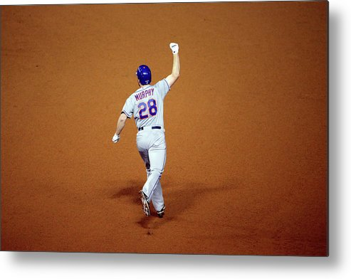 Daniel Murphy - Baseball Player Metal Print featuring the photograph Daniel Murphy and Fernando Rodney by Jon Durr