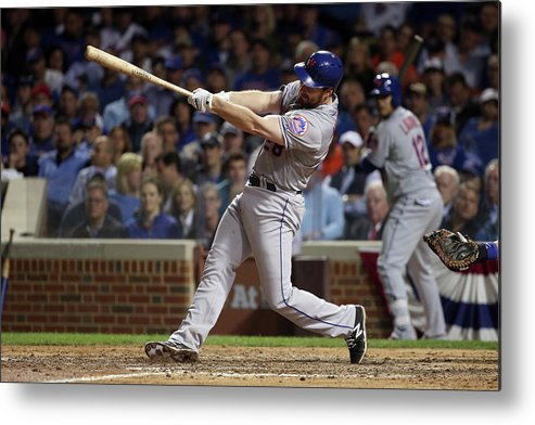 Daniel Murphy - Baseball Player Metal Print featuring the photograph Daniel Murphy and Fernando Rodney by Jonathan Daniel