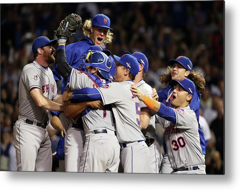 People Metal Print featuring the photograph Daniel Murphy and Noah Syndergaard by Jonathan Daniel