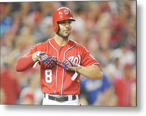 Looking Metal Print featuring the photograph Danny Espinosa by Mitchell Layton