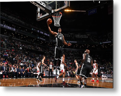 Nba Pro Basketball Metal Print featuring the photograph Dante Cunningham and Drazen Petrovic by Jesse D. Garrabrant