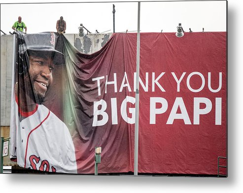 American League Baseball Metal Print featuring the photograph David Ortiz by Billie Weiss/boston Red Sox