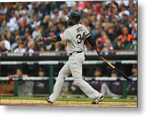 American League Baseball Metal Print featuring the photograph David Ortiz by Mike Ehrmann