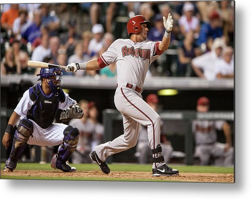 National League Baseball Metal Print featuring the photograph David Peralta by Dustin Bradford