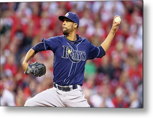 Great American Ball Park Metal Print featuring the photograph David Price by Andy Lyons