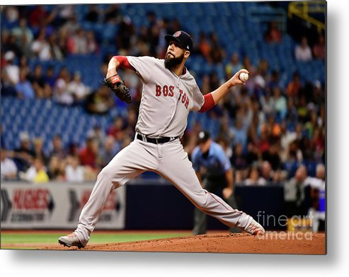David Price Metal Print featuring the photograph David Price by Julio Aguilar