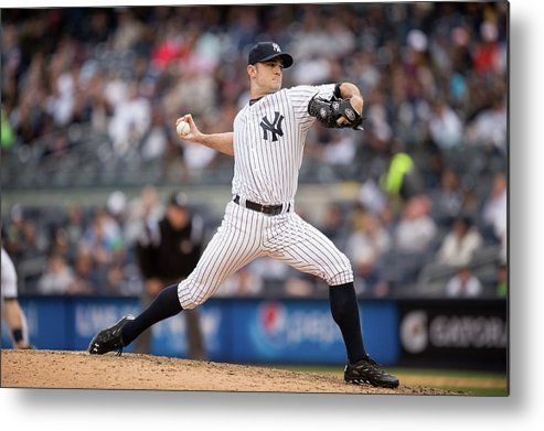 American League Baseball Metal Print featuring the photograph David Robertson by Rob Tringali