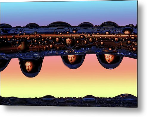 Macro Metal Print featuring the photograph Dawn on Magor by Jim Painter