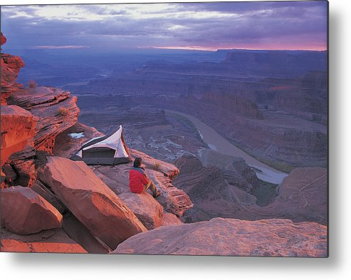 Camping Metal Print featuring the photograph Dead Horse Point Park, Utah, USA by Digital Vision.