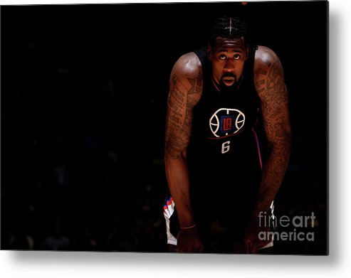 Nba Pro Basketball Metal Print featuring the photograph Deandre Jordan by Bart Young