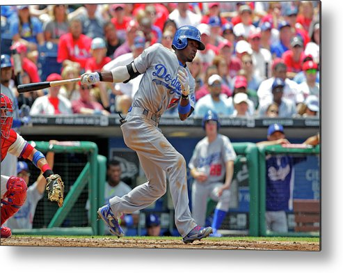 Second Inning Metal Print featuring the photograph Dee Gordon by Hunter Martin