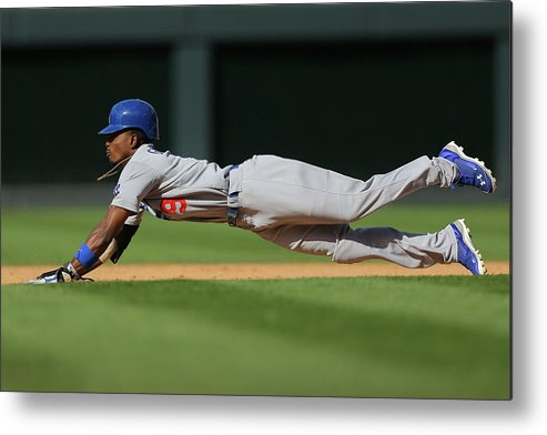 Los Angeles Dodgers Metal Print featuring the photograph Dee Gordon by Justin Edmonds