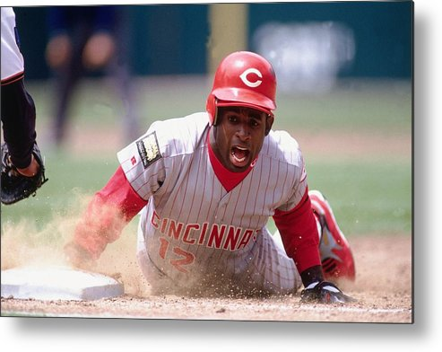 Motion Metal Print featuring the photograph Deion Sanders by Ronald C. Modra/sports Imagery