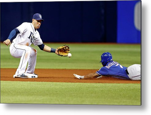 People Metal Print featuring the photograph Delino Deshields by Brian Blanco