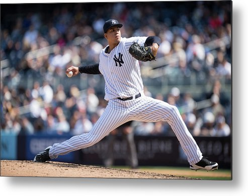 American League Baseball Metal Print featuring the photograph Dellin Betances by Rob Tringali