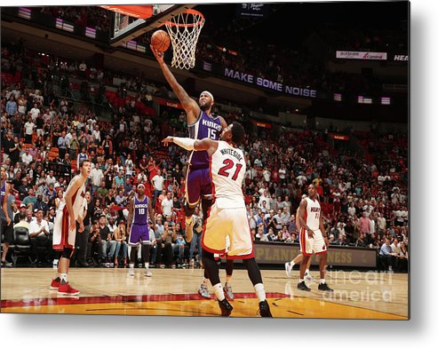 Nba Pro Basketball Metal Print featuring the photograph Demarcus Cousins by Issac Baldizon