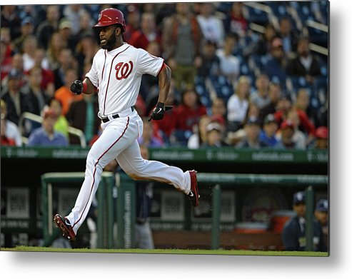 American League Baseball Metal Print featuring the photograph Denard Span And Anthony Rendon by Patrick Smith