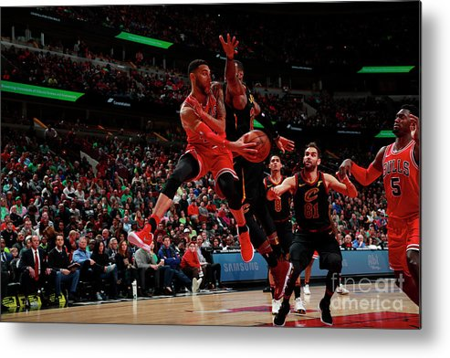 United Center Metal Print featuring the photograph Denzel Valentine by Jeff Haynes