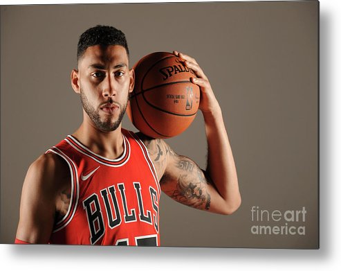 Media Day Metal Print featuring the photograph Denzel Valentine by Randy Belice