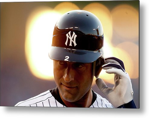 People Metal Print featuring the photograph Derek Jeter by Jamie Squire