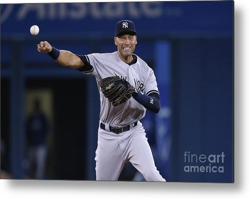 Ninth Inning Metal Print featuring the photograph Derek Jeter by Tom Szczerbowski