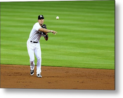 American League Baseball Metal Print featuring the photograph Derek Parks by Alex Trautwig