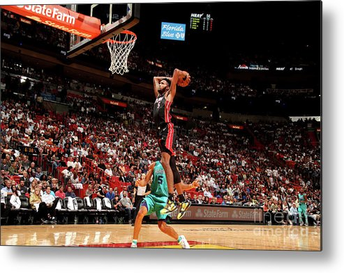 Nba Pro Basketball Metal Print featuring the photograph Derrick Jones by Issac Baldizon