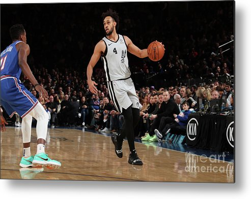 Nba Pro Basketball Metal Print featuring the photograph Derrick White by Nathaniel S. Butler