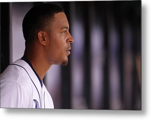 American League Baseball Metal Print featuring the photograph Desmond Jennings by Brian Blanco