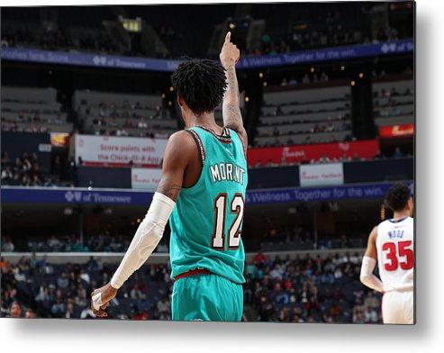 Nba Pro Basketball Metal Print featuring the photograph Detroit Pistons v Memphis Grizzlies by Joe Murphy