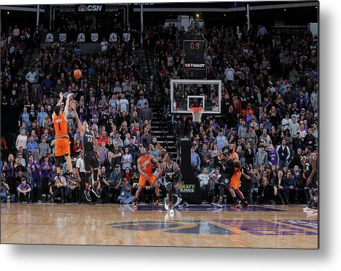 Nba Pro Basketball Metal Print featuring the photograph Devin Booker by Rocky Widner