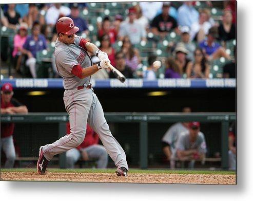 Ninth Inning Metal Print featuring the photograph Devin Mesoraco by Dustin Bradford