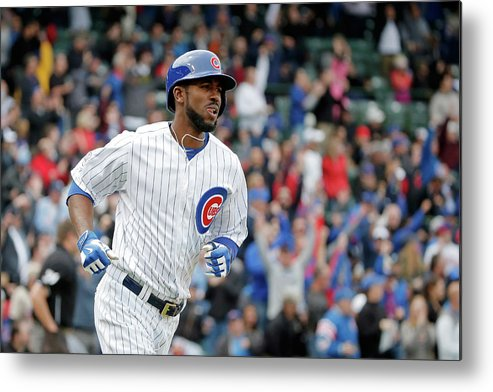 Three Quarter Length Metal Print featuring the photograph Dexter Fowler by Jon Durr