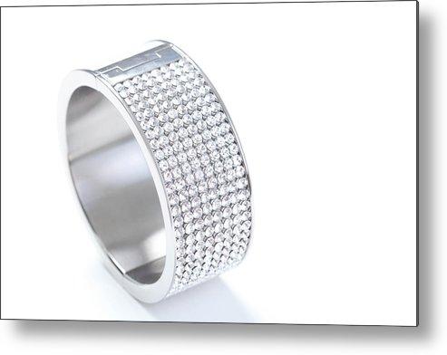 Gemstone Metal Print featuring the photograph Diamond Bracelet by Vitapix