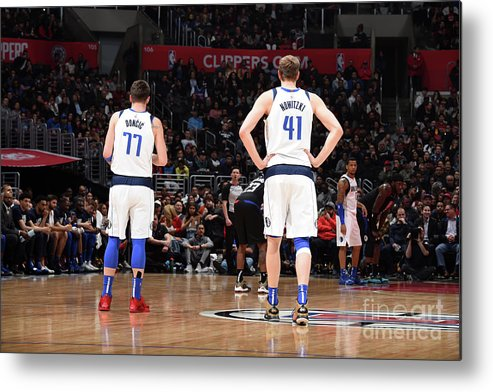 Nba Pro Basketball Metal Print featuring the photograph Dirk Nowitzki by Adam Pantozzi