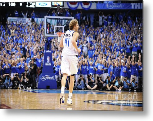 Playoffs Metal Print featuring the photograph Dirk Nowitzki by Garrett Ellwood